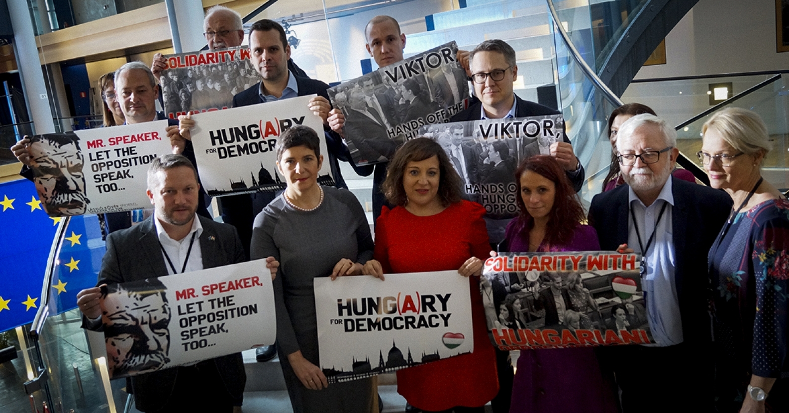 Solidarity Protest Action in EP against Curbing Rights of Hungarian Opposition MPs