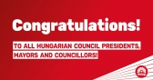 The Hungarian Socialist Party congratulates all Hungarian council presidents, mayors and councillors who won mandates in the Romanian municipal elections!